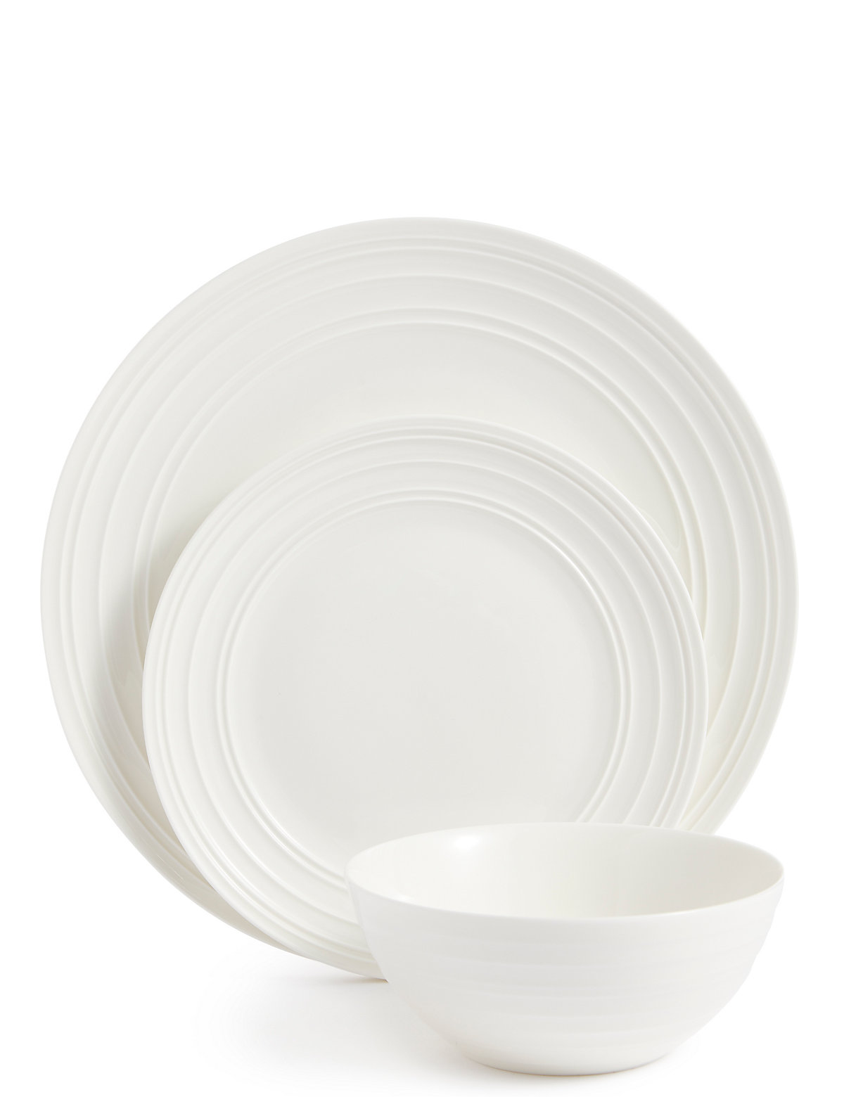 Image of 12 Piece Metro Fine China Coupe Dinner Set