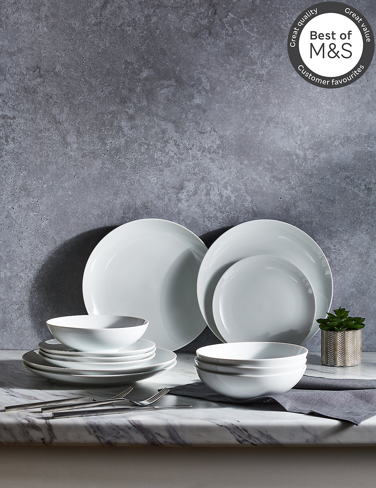 Image of 12 Piece Maxim Coupe Dinner Set