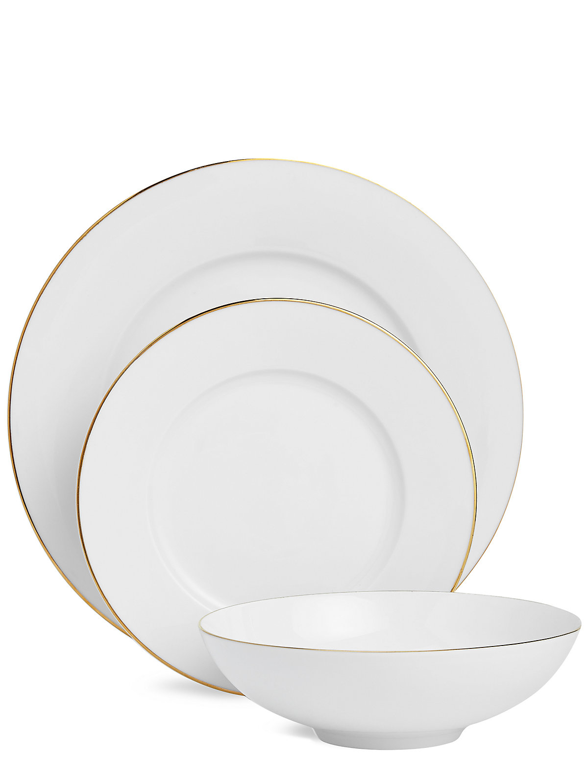 Image of 12 Piece Maxim Gold Dinner Set