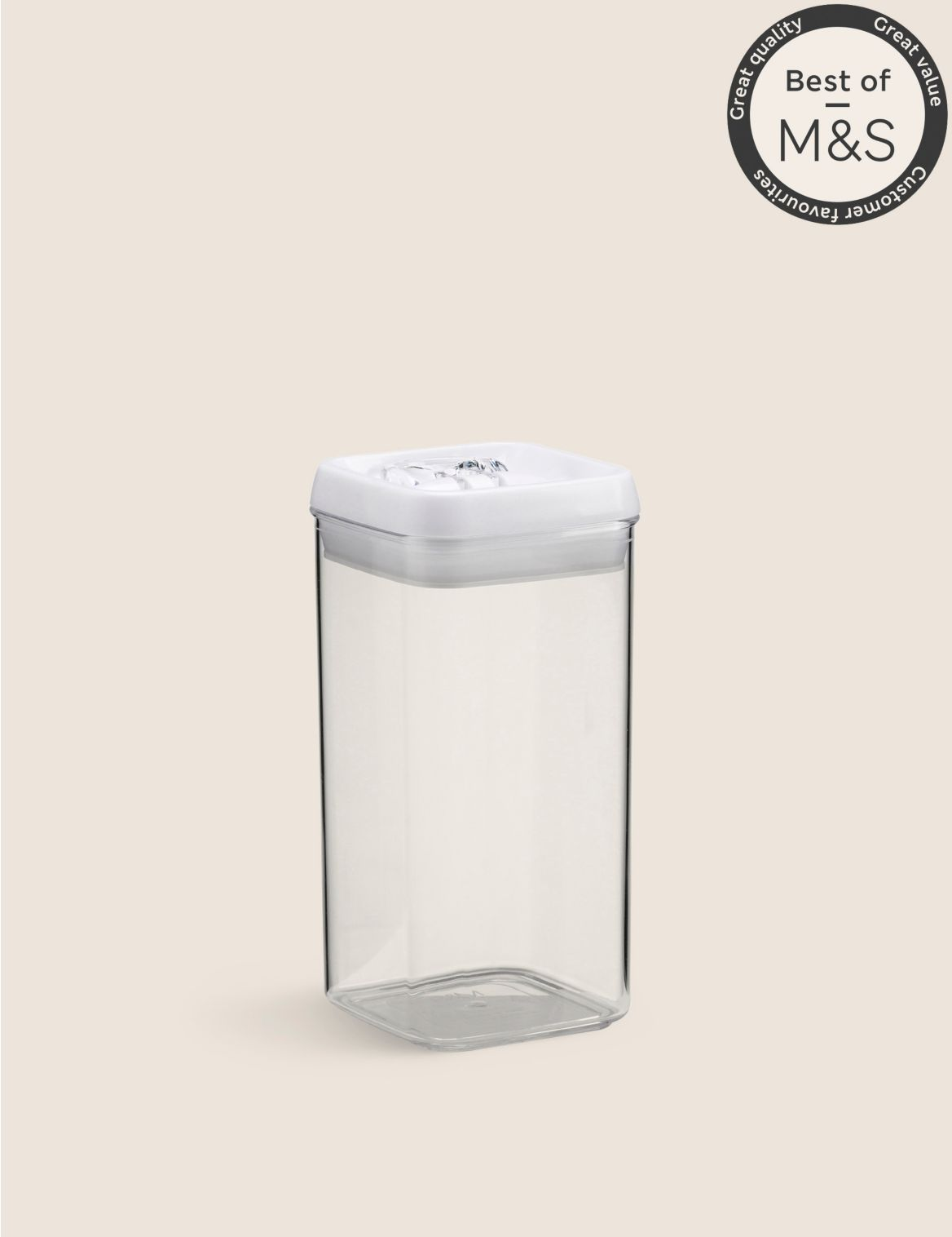 1.2L Rectangular Flip-Tight Food Storage white