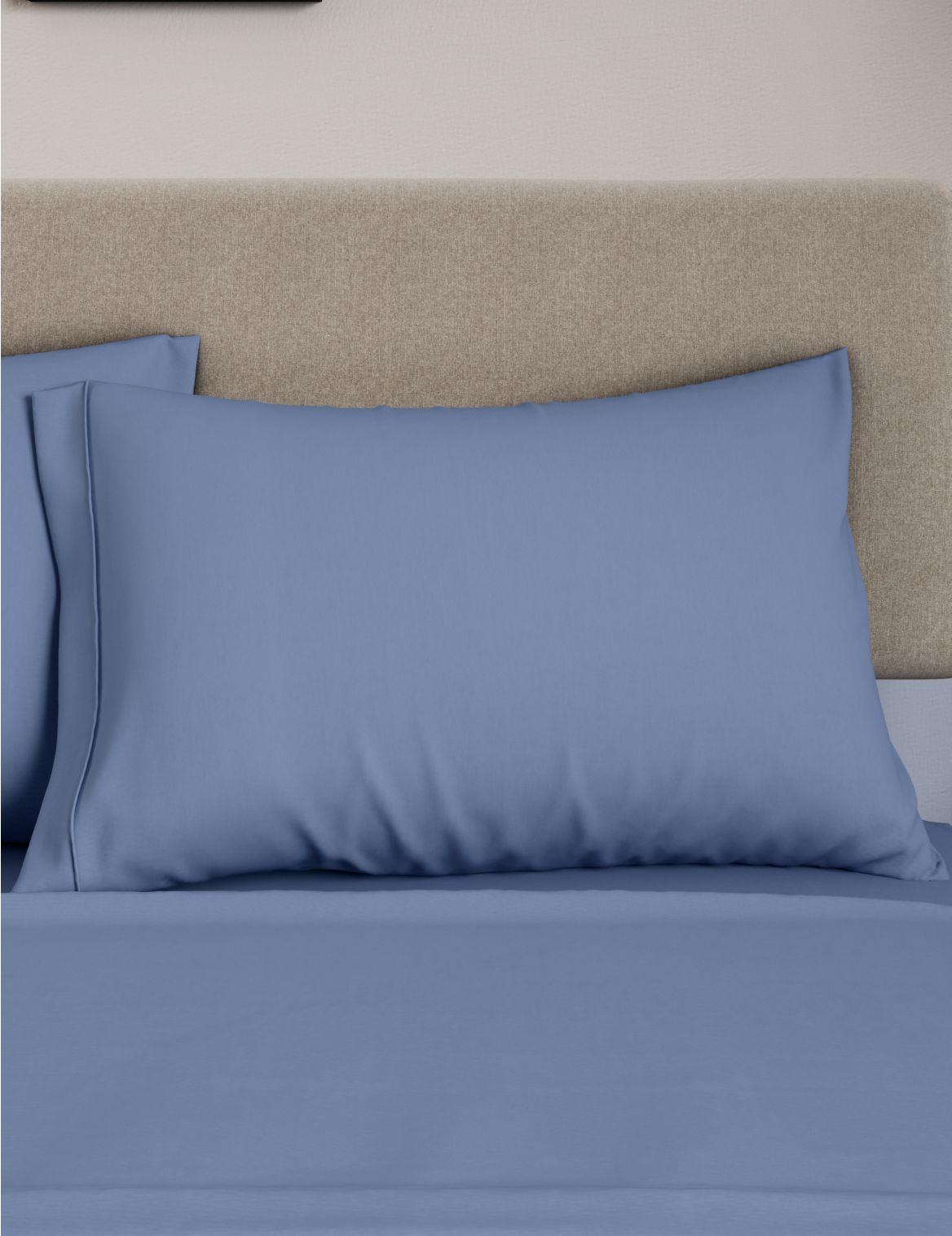 Egyptian Cotton 230 Thread Count Standard Pillowcase Blue