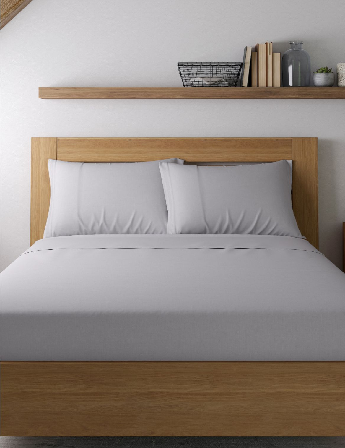 2 Pack Percale Pillowcases Grey