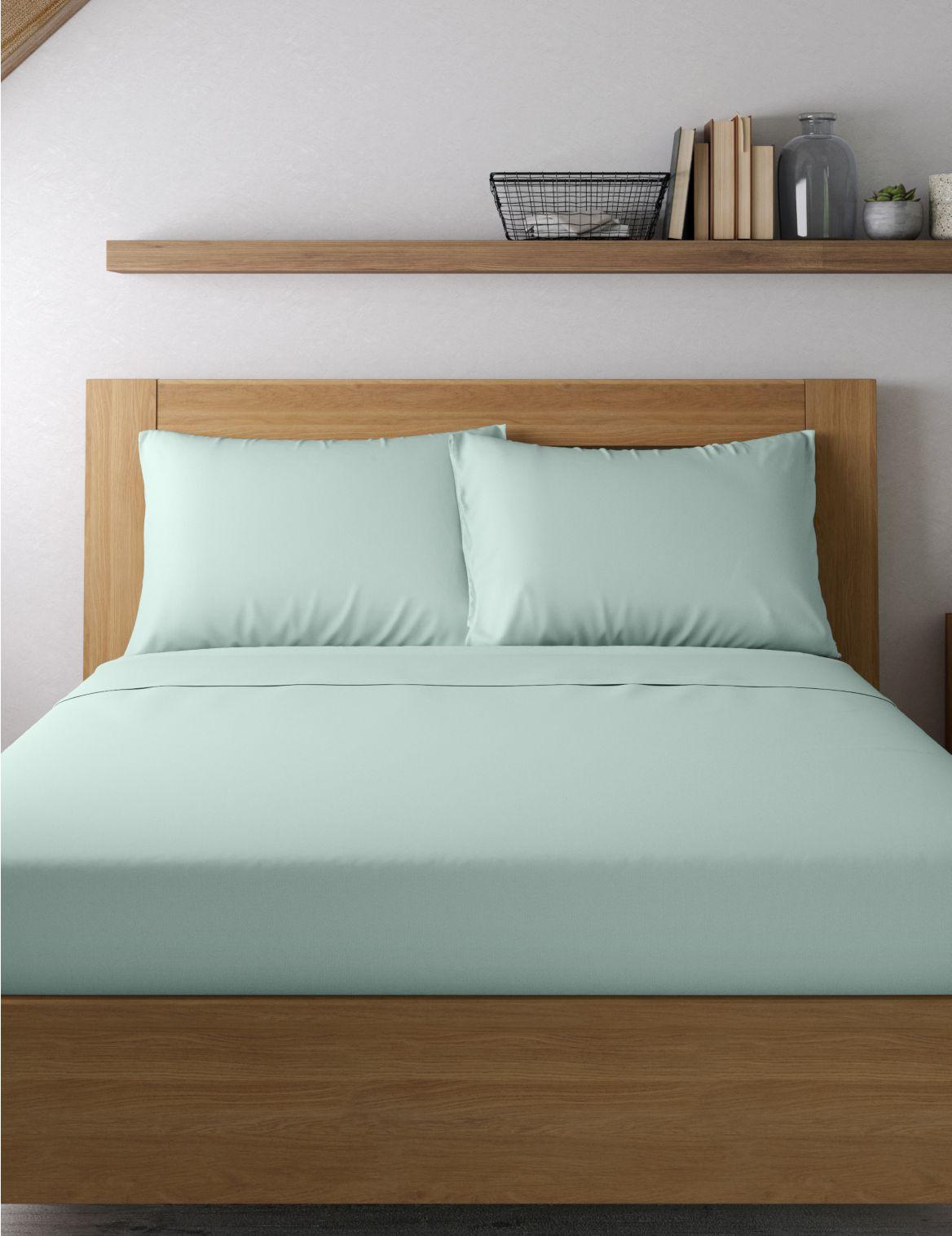 Egyptian Cotton 400 Thread Count Percale Standard Pillowcase Blue
