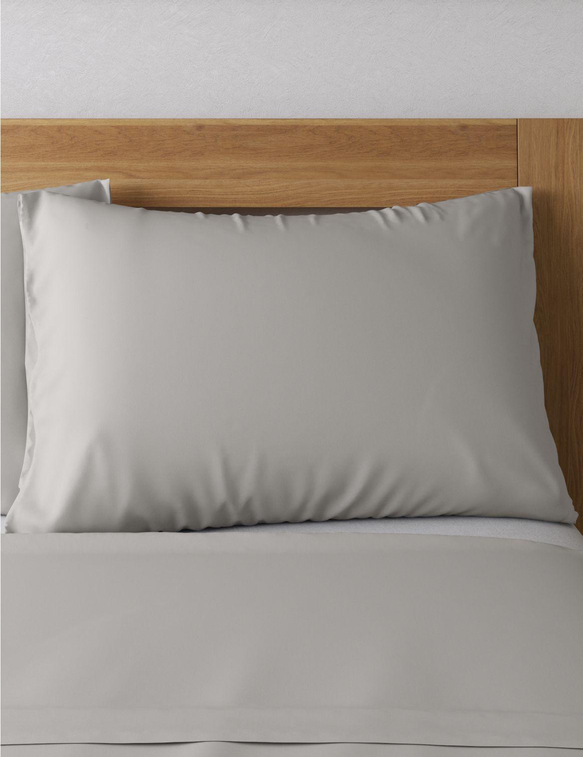 Egyptian Cotton 400 Thread Count Percale Standard Pillowcase Grey