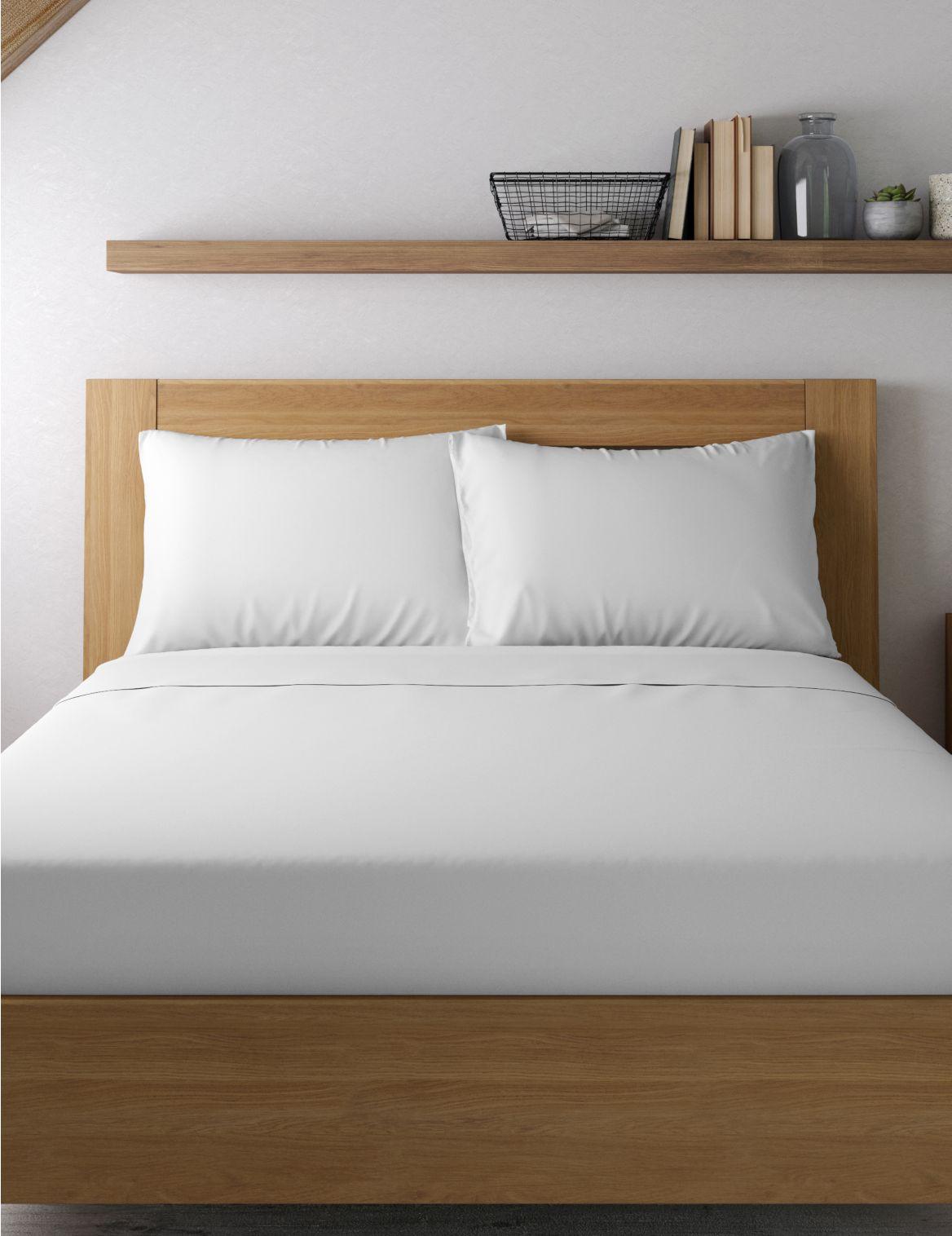 Egyptian Cotton 400 Thread Count Percale Standard Pillowcase White