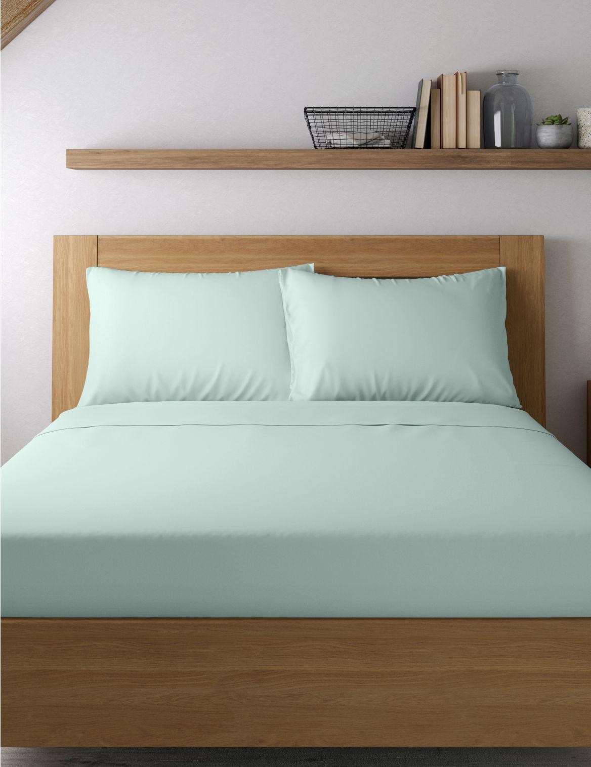 Egyptian Cotton 400 Thread Count Sateen Standard Pillowcase Blue