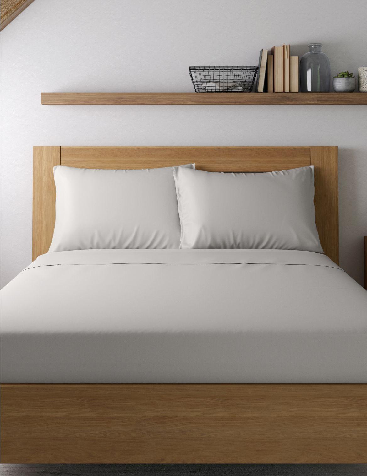 Egyptian Cotton 400 Thread Count Sateen Standard Pillowcase Grey