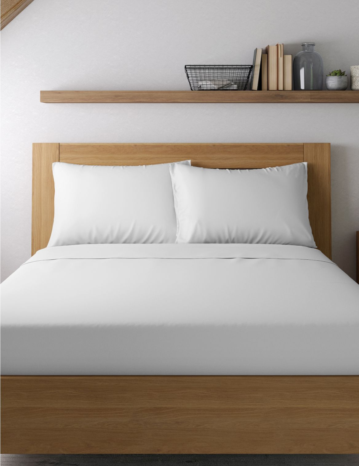 Egyptian Cotton 400 Thread Count Sateen Standard Pillowcase White