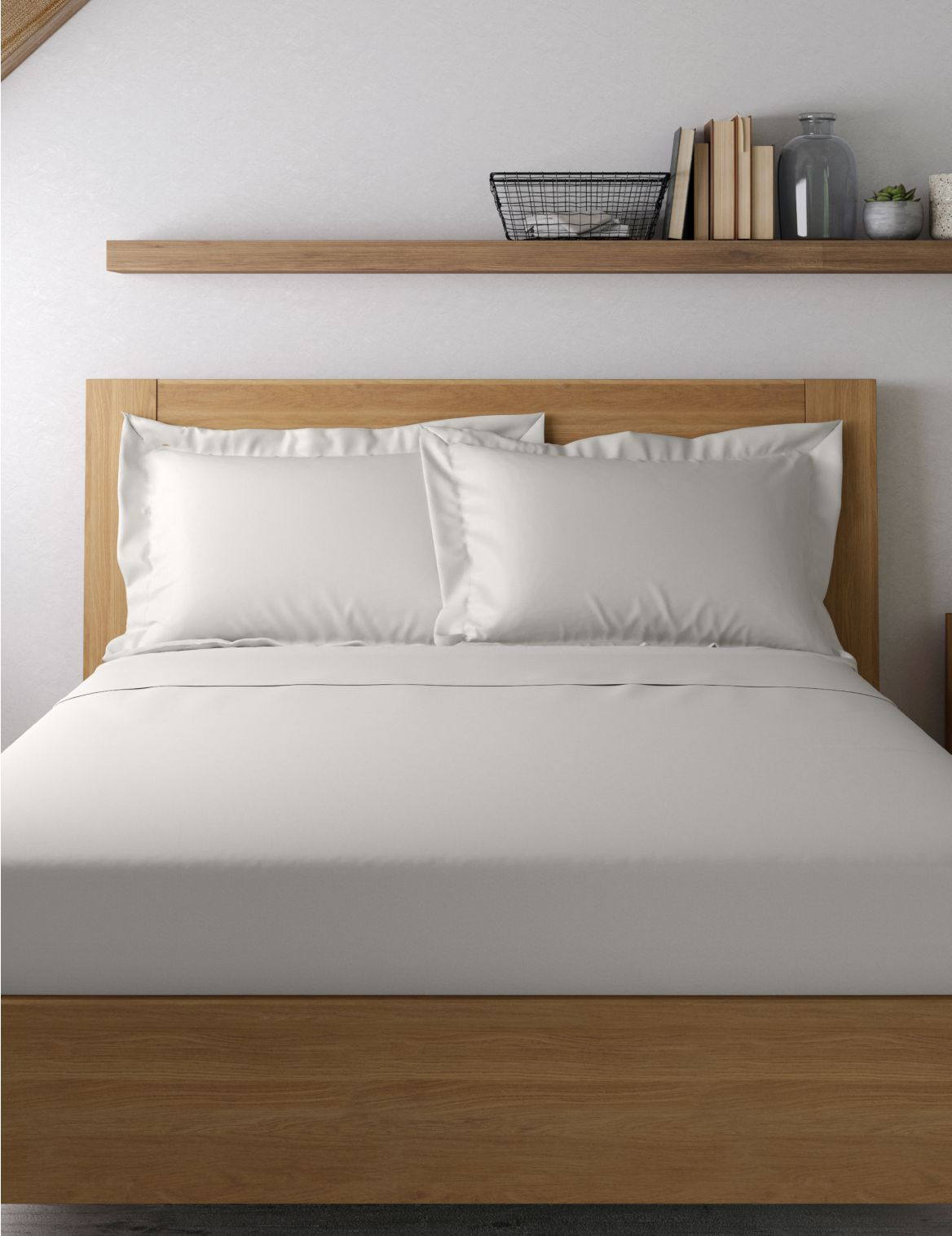Egyptian Cotton 400 Thread Count Sateen Oxford Pillowcase Grey