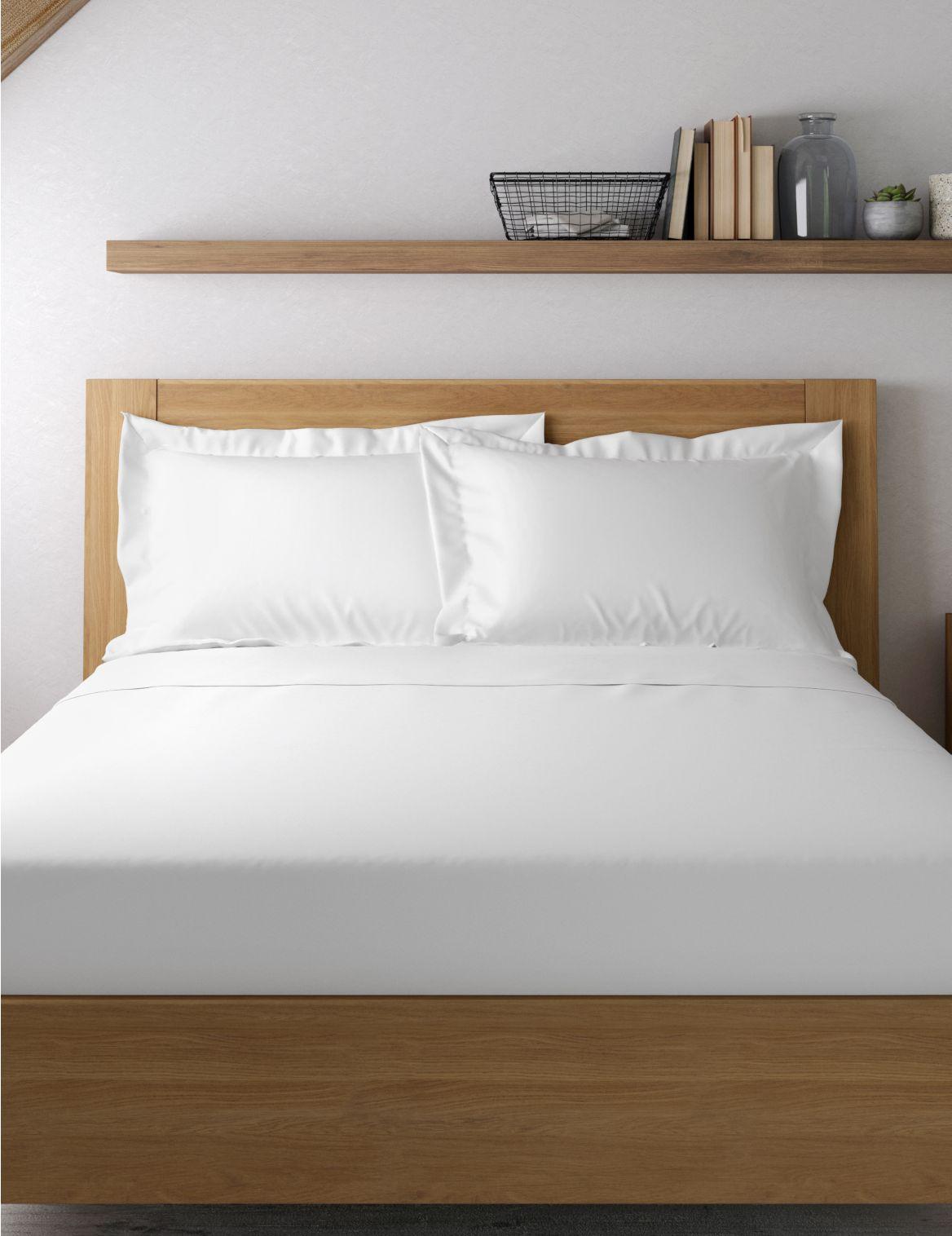 Egyptian Cotton 400 Thread Count Sateen Oxford Pillowcase White