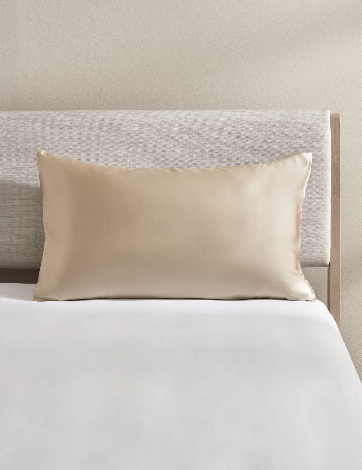Pure Silk Pillowcase Brown