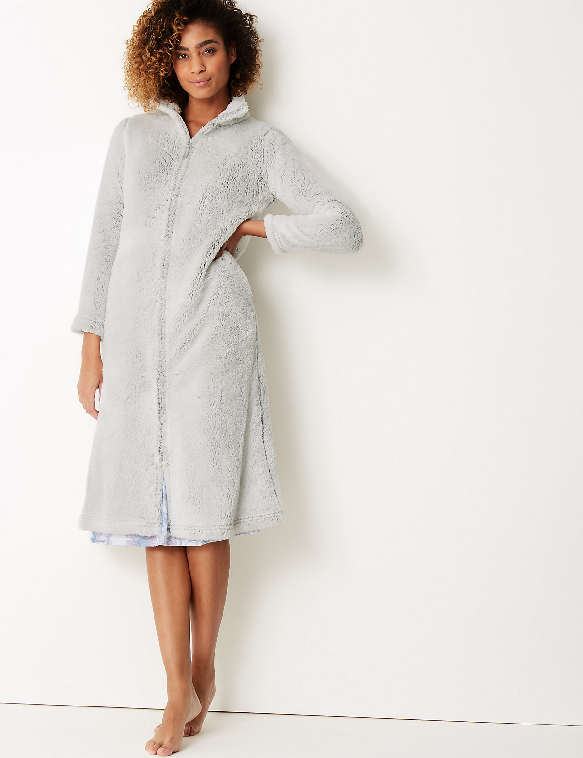Marks and Spencer   M&S Collection Fleece Long Sleeve Dressing Gown