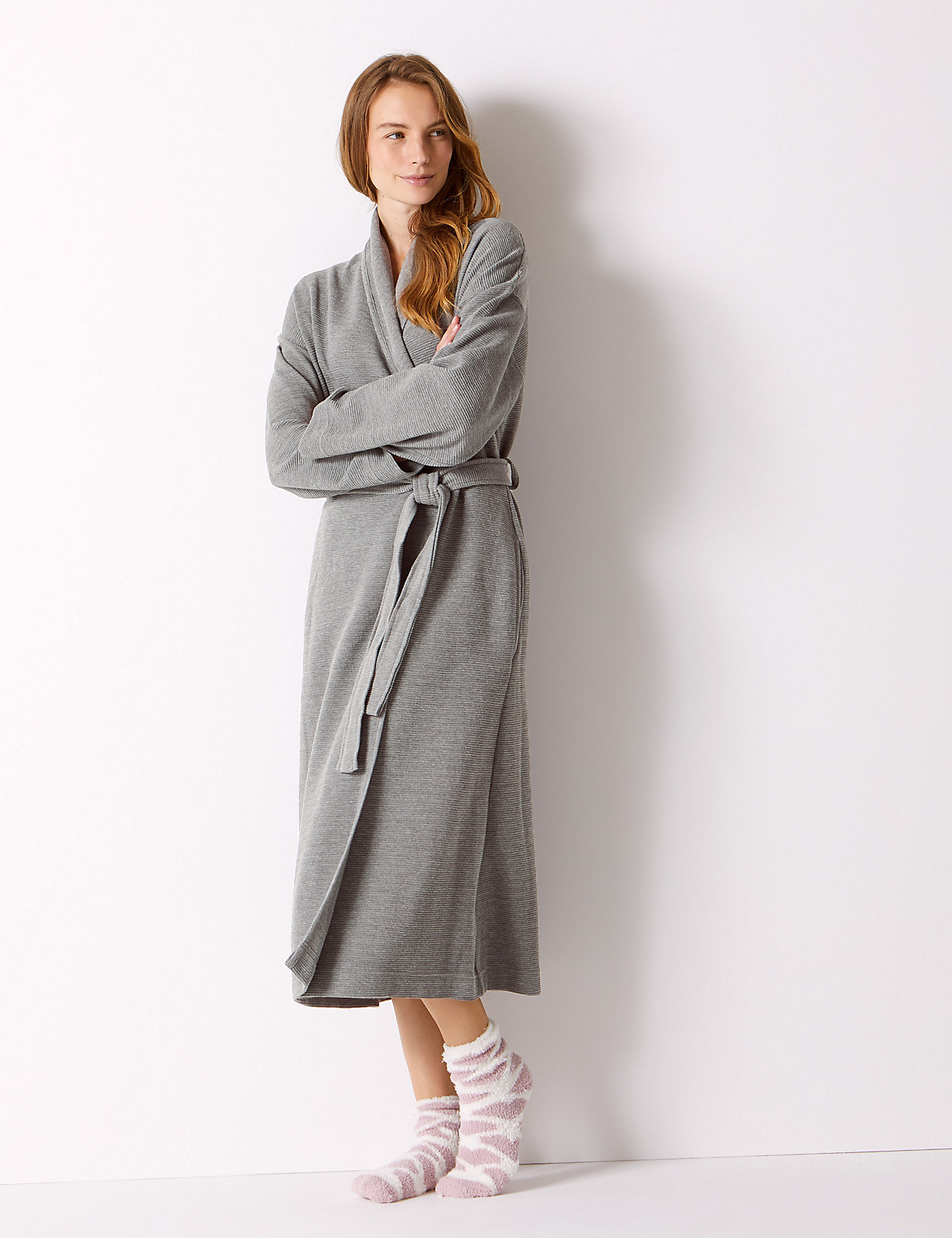 M&S Collection Textured Ribbed Waffle Dressing Gown   £35.00   Westquay