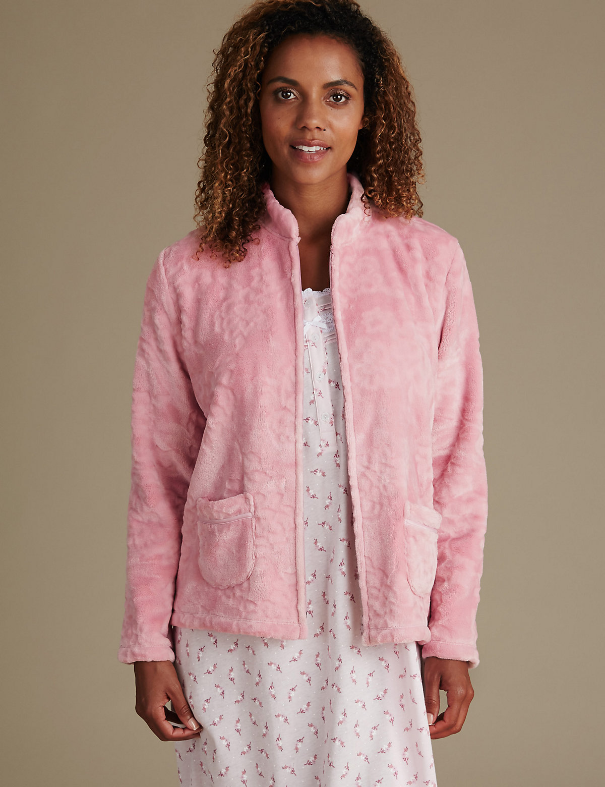 M&S Collection Long Sleeve Bed Jacket
