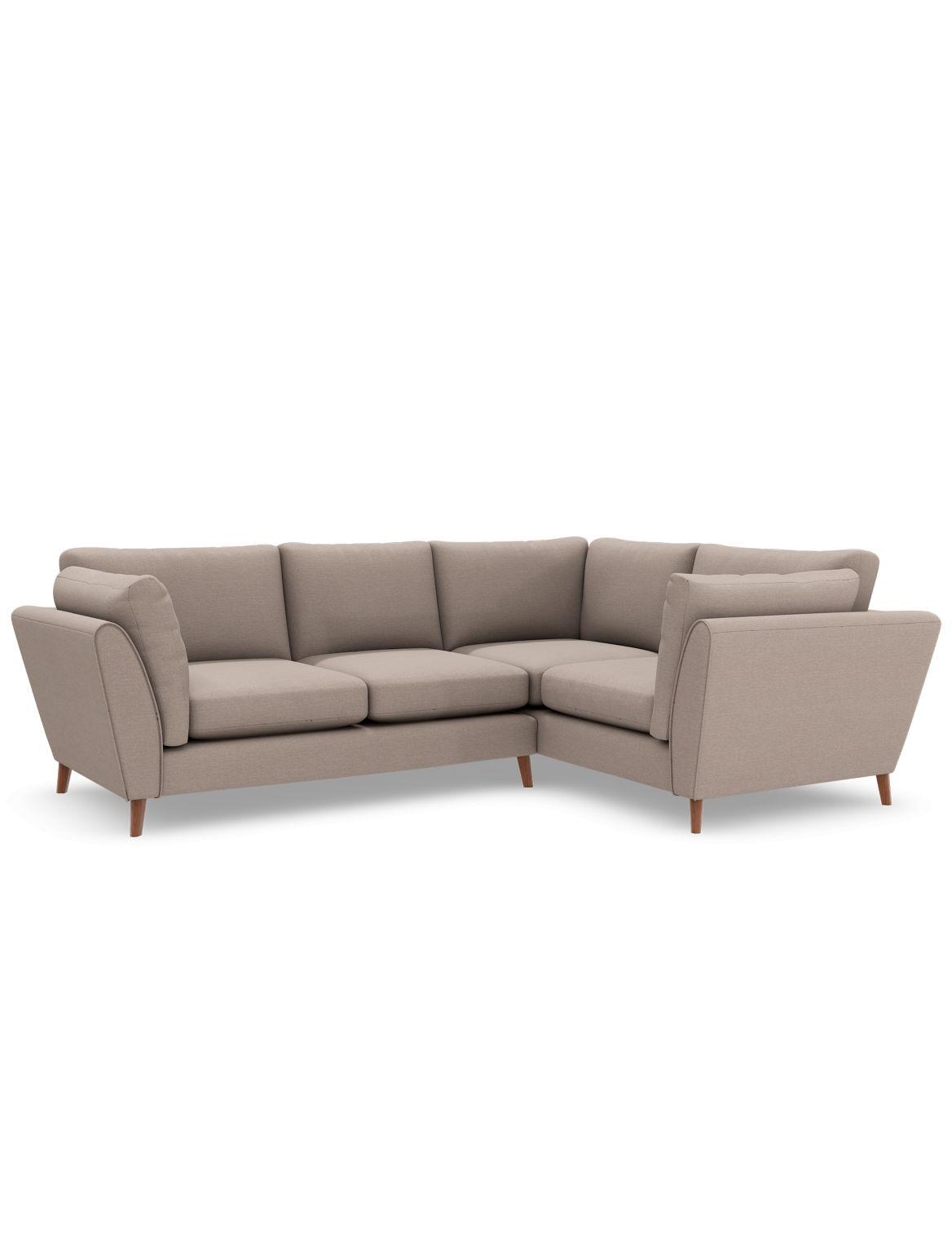 Finch Small Corner Sofa (Right-Hand) Beige