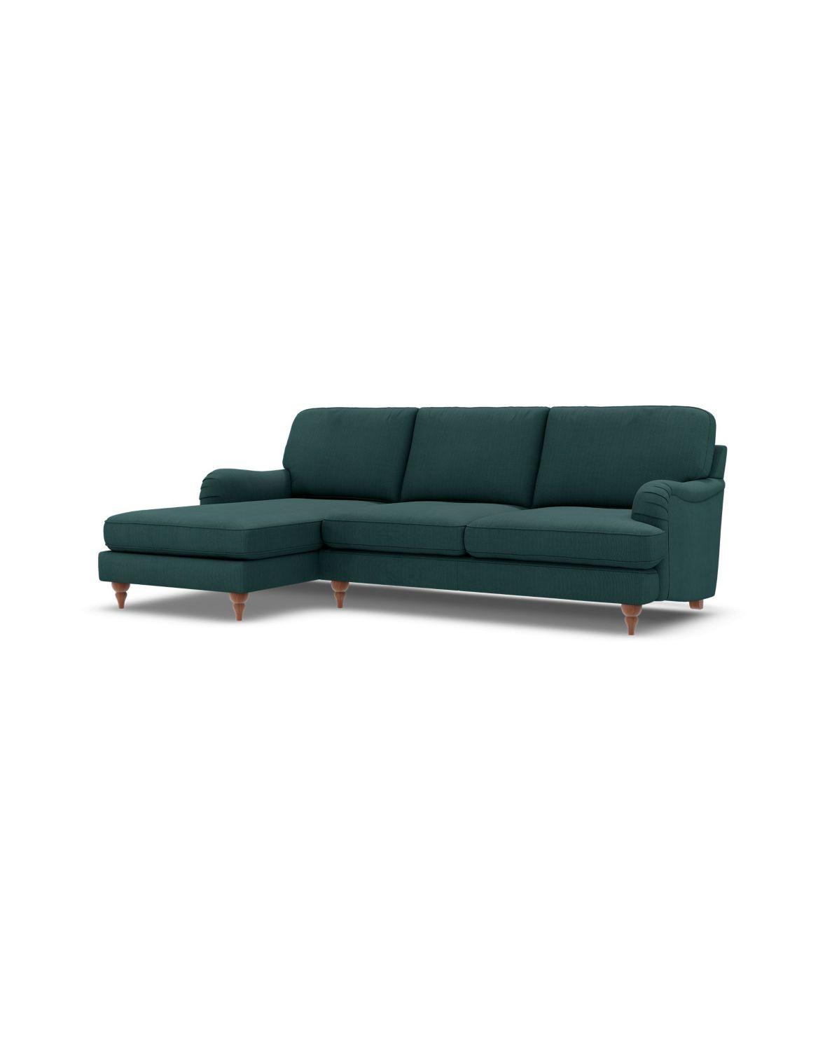 Rochester Corner Chaise Sofa (Left-Hand) Green