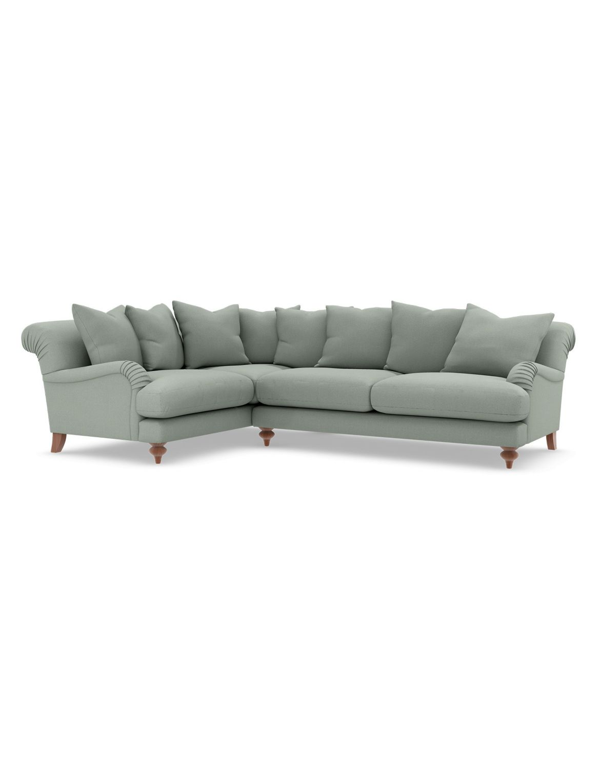 Isabelle Small Corner Sofa (Left-Hand) Blue