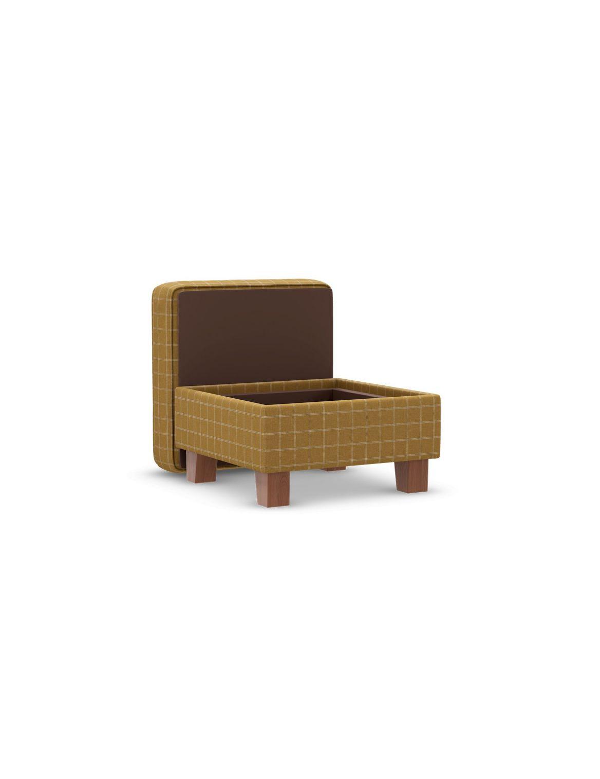 Small Storage Footstool Yellow