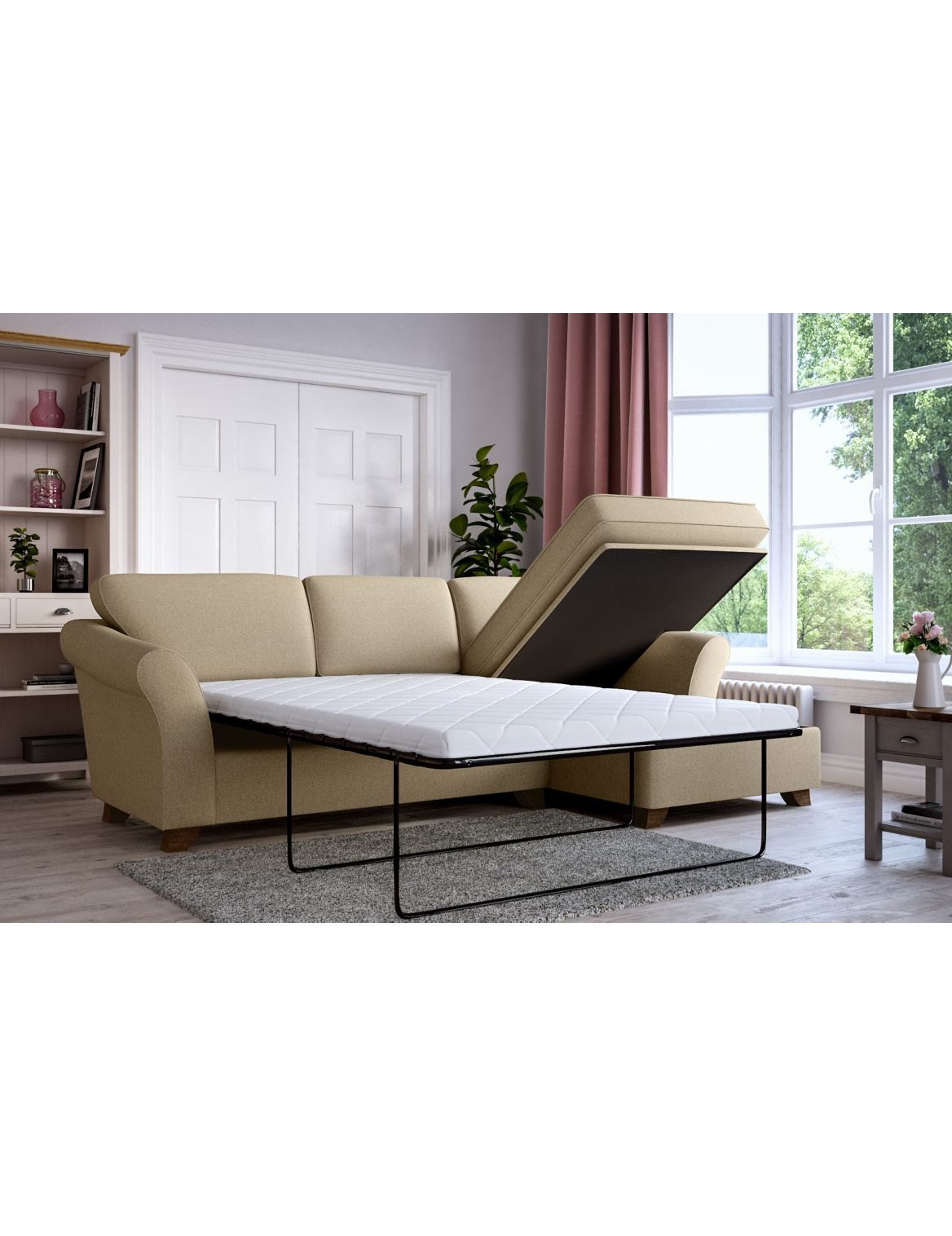 Marks Spencer Abbey Corner Chaise Storage Sofa Bed Right Hand