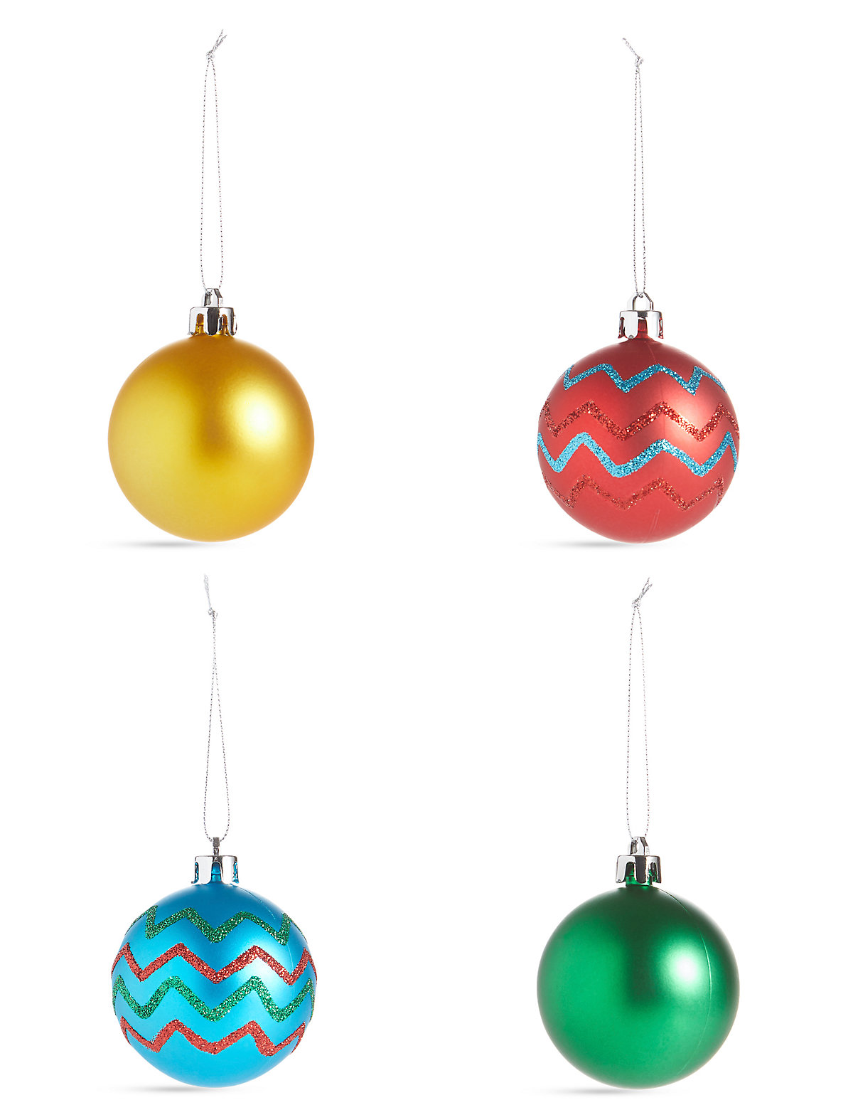 Image of 12 Pack Bright Shatterproof Baubles