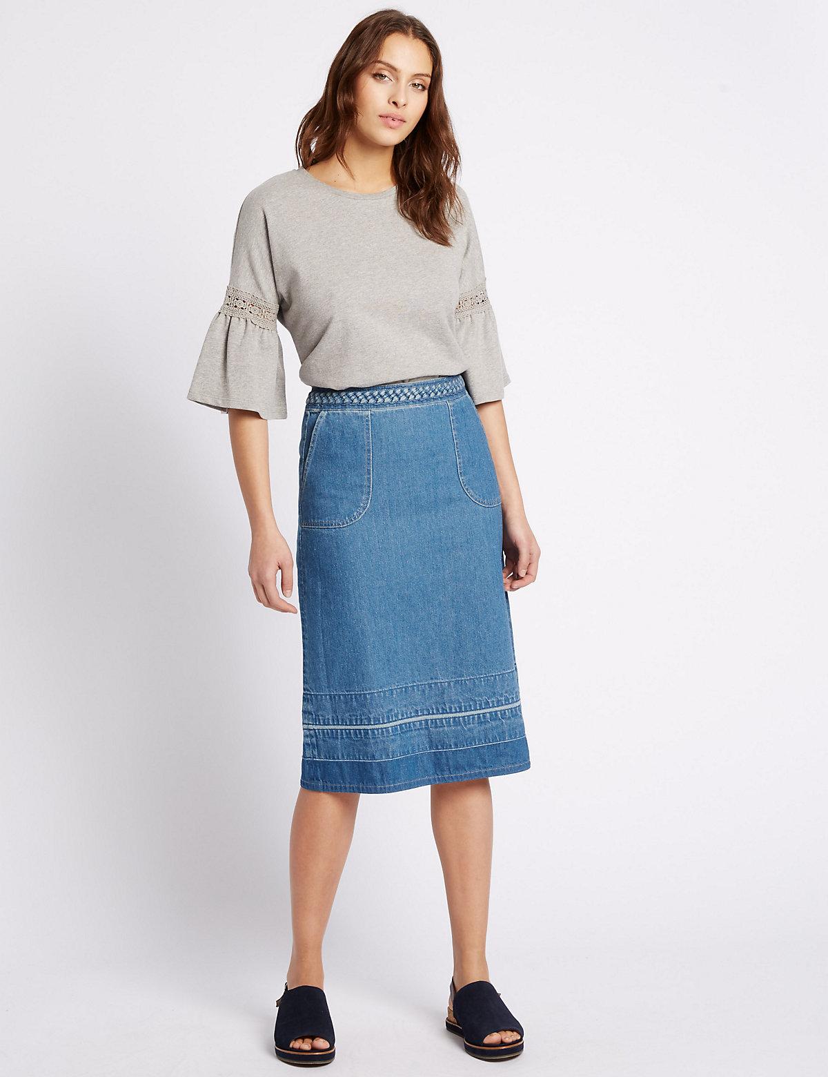 Per Una Denim Midi Skirt