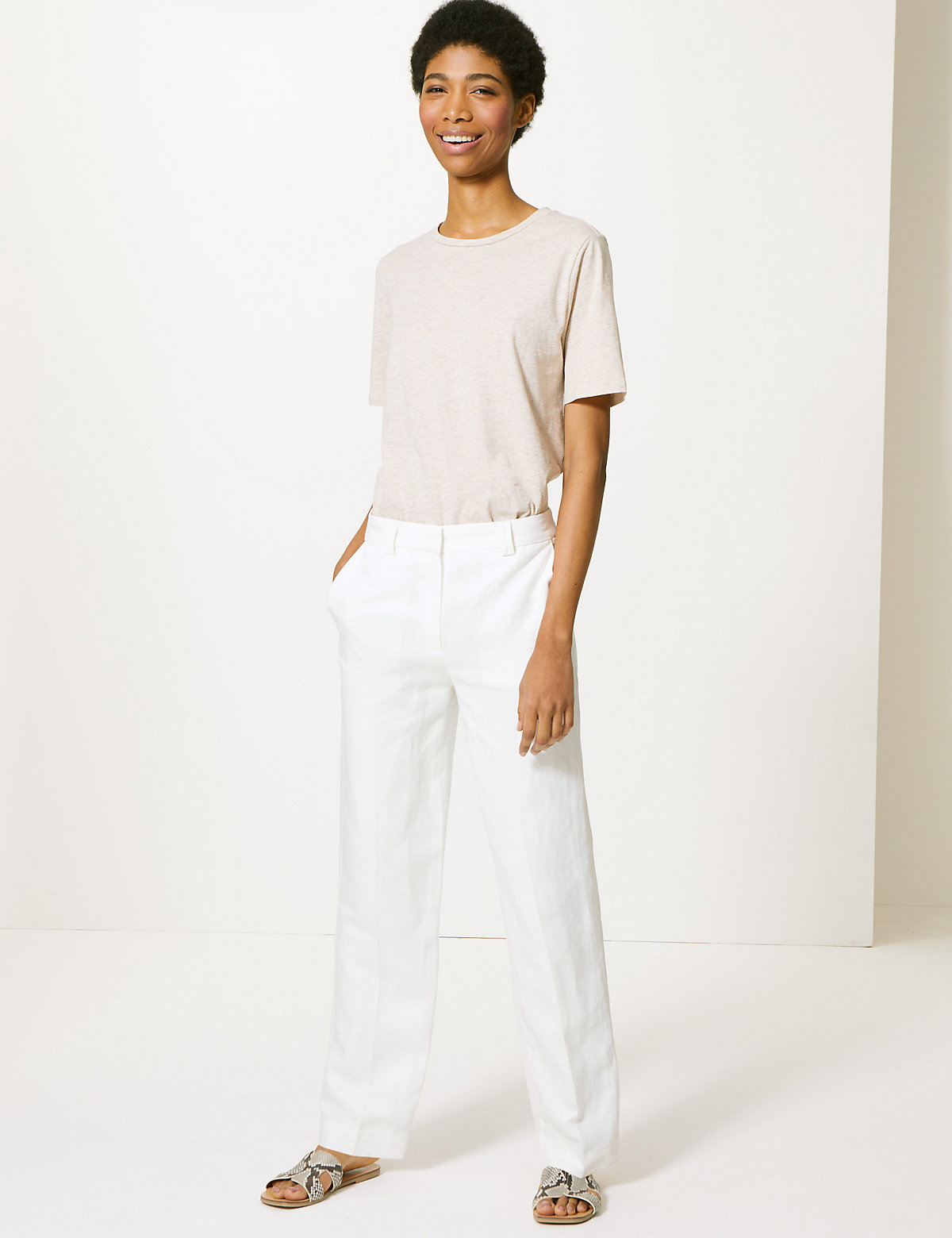 3c1f229d7a6 M S Collection Freya Relaxed Straight Leg Trousers