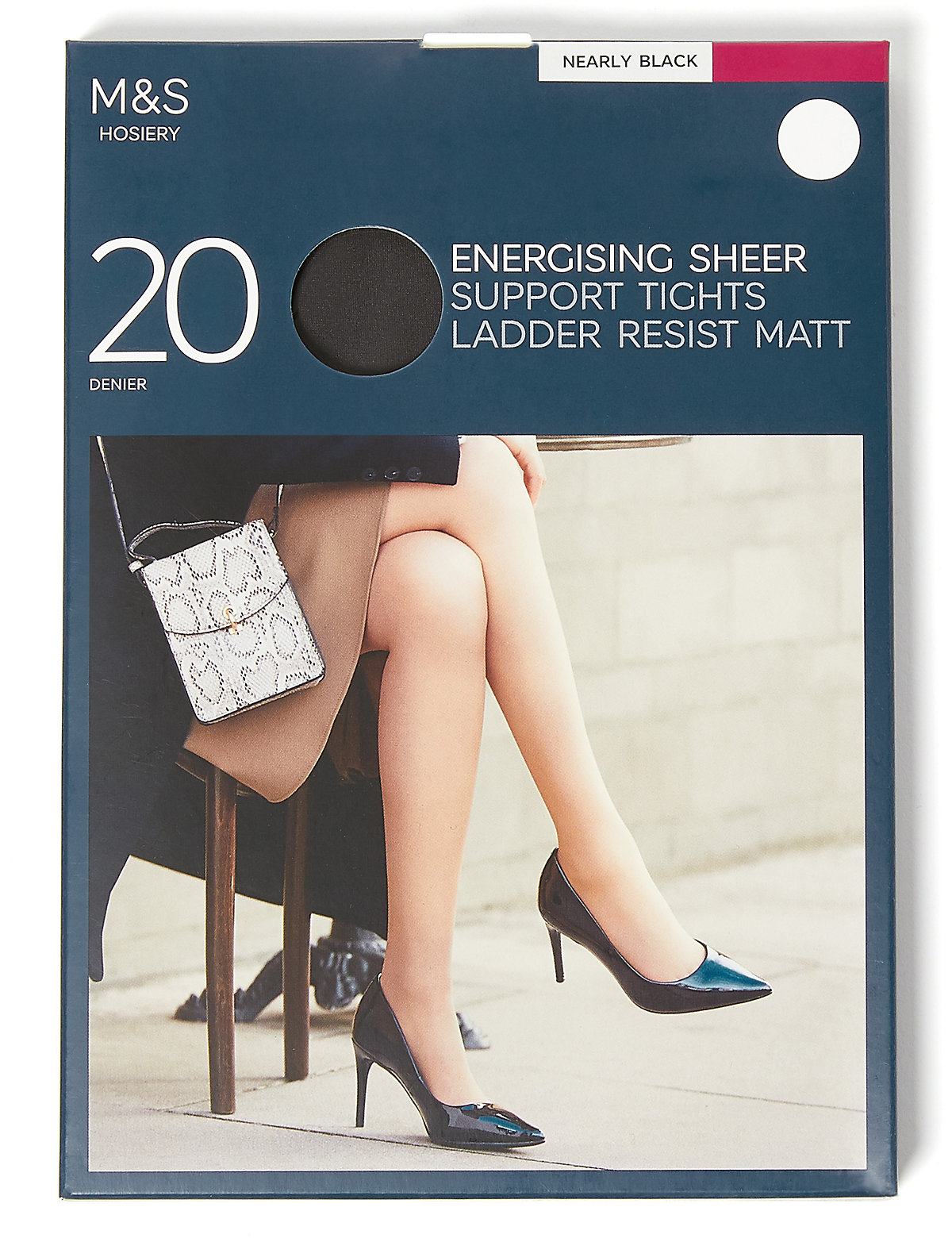M&S Collection 20 Denier Energise Ladder Resist Tights