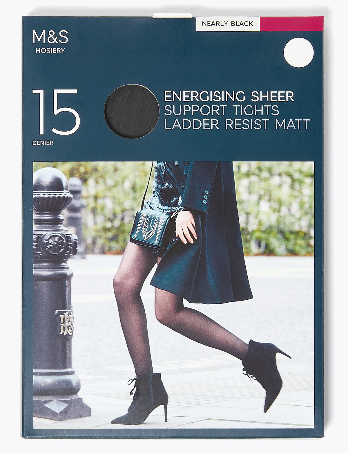M&S Collection 15 Denier Energising Ladder Resist Tights
