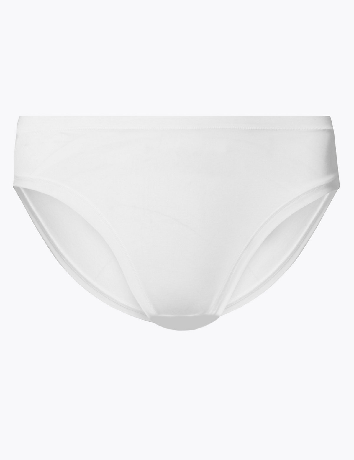 a256a2df4ad1 M&S Women's White Modal Rich Flexifit High Leg Knickers ...