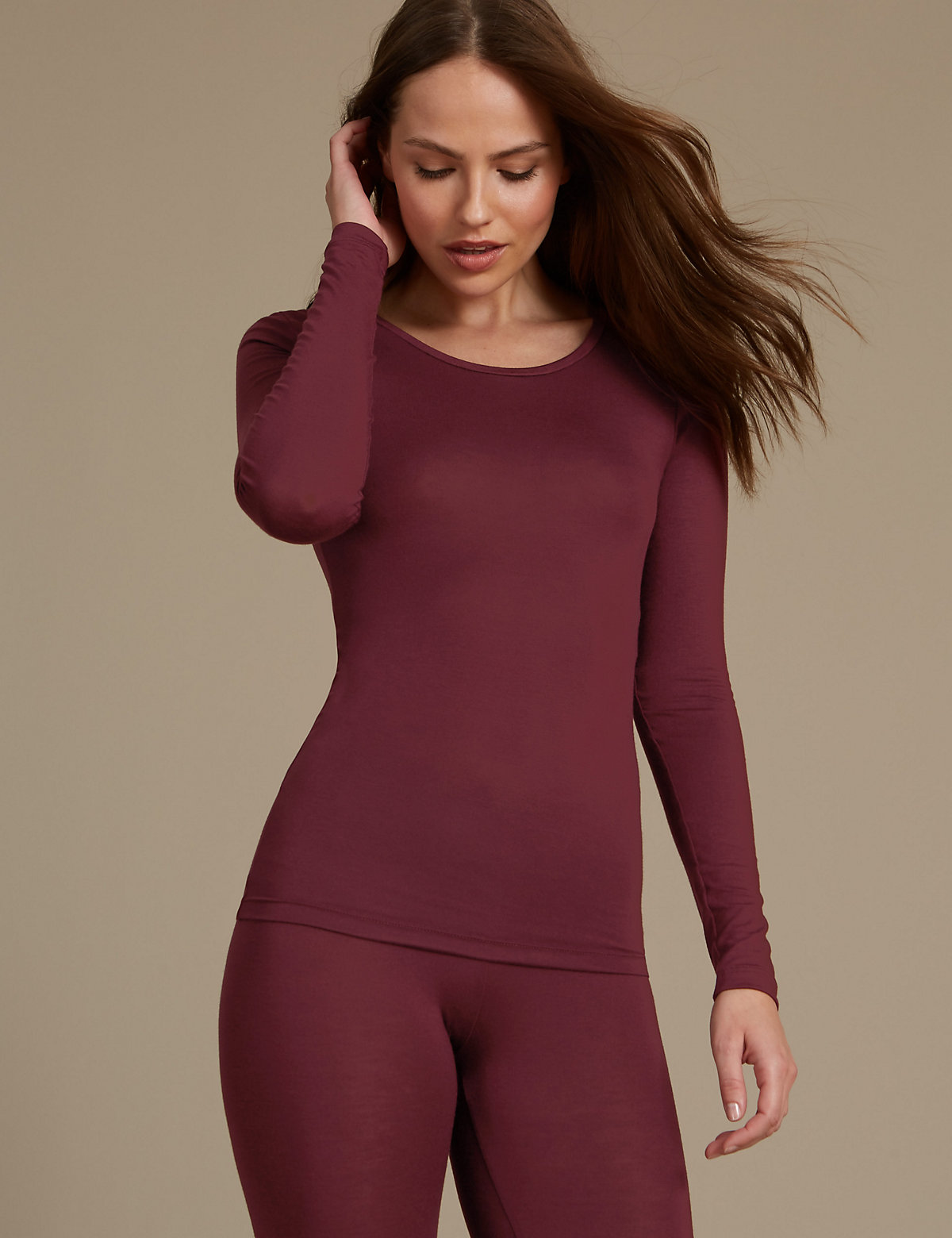 M&S Collection Heatgen Thermal Long Sleeve Top