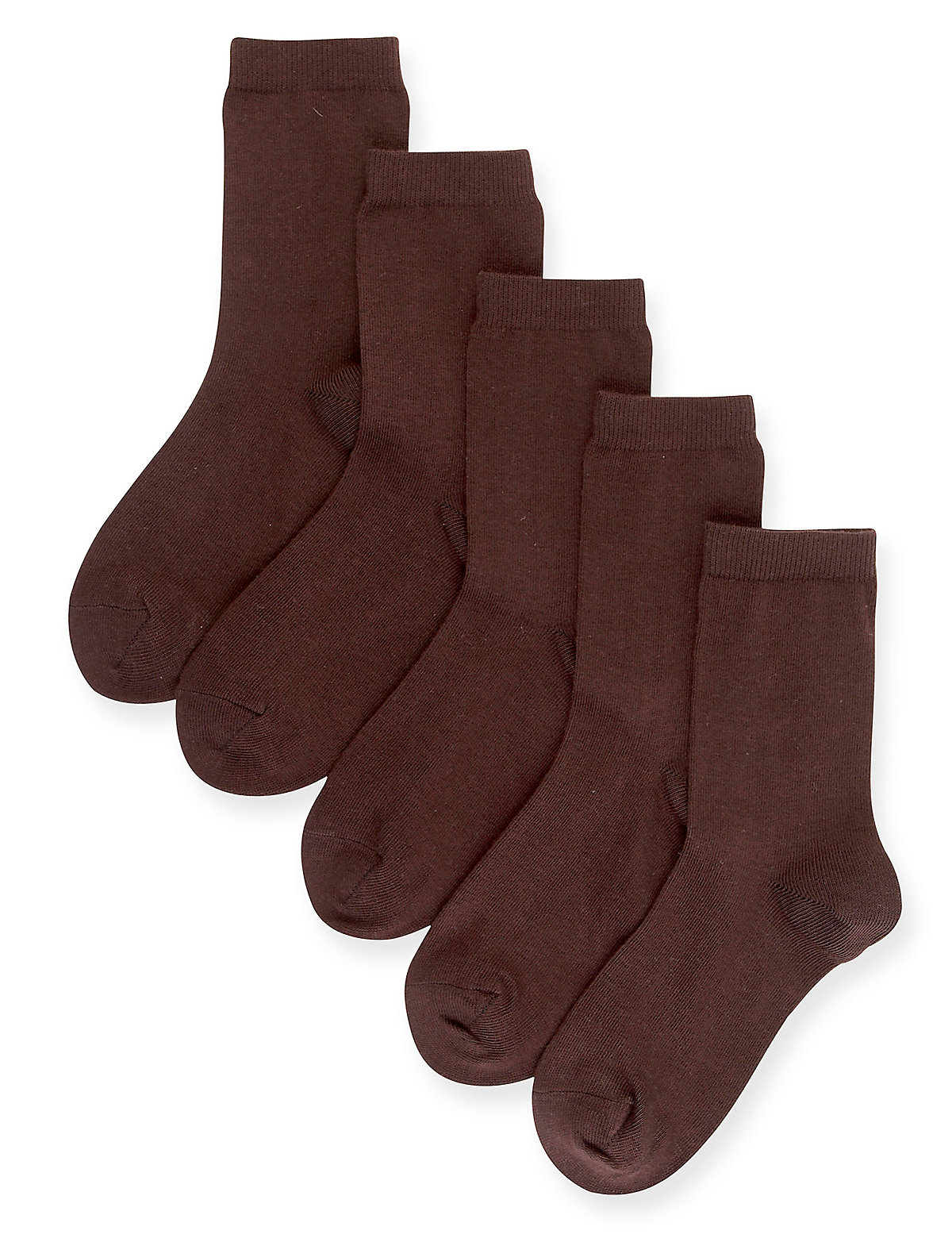 5 Pairs of Freshfeet Cotton Rich School Socks (514 Years)