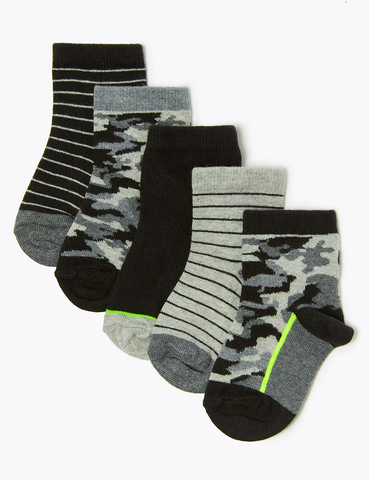 5 Pack Camouflage Socks