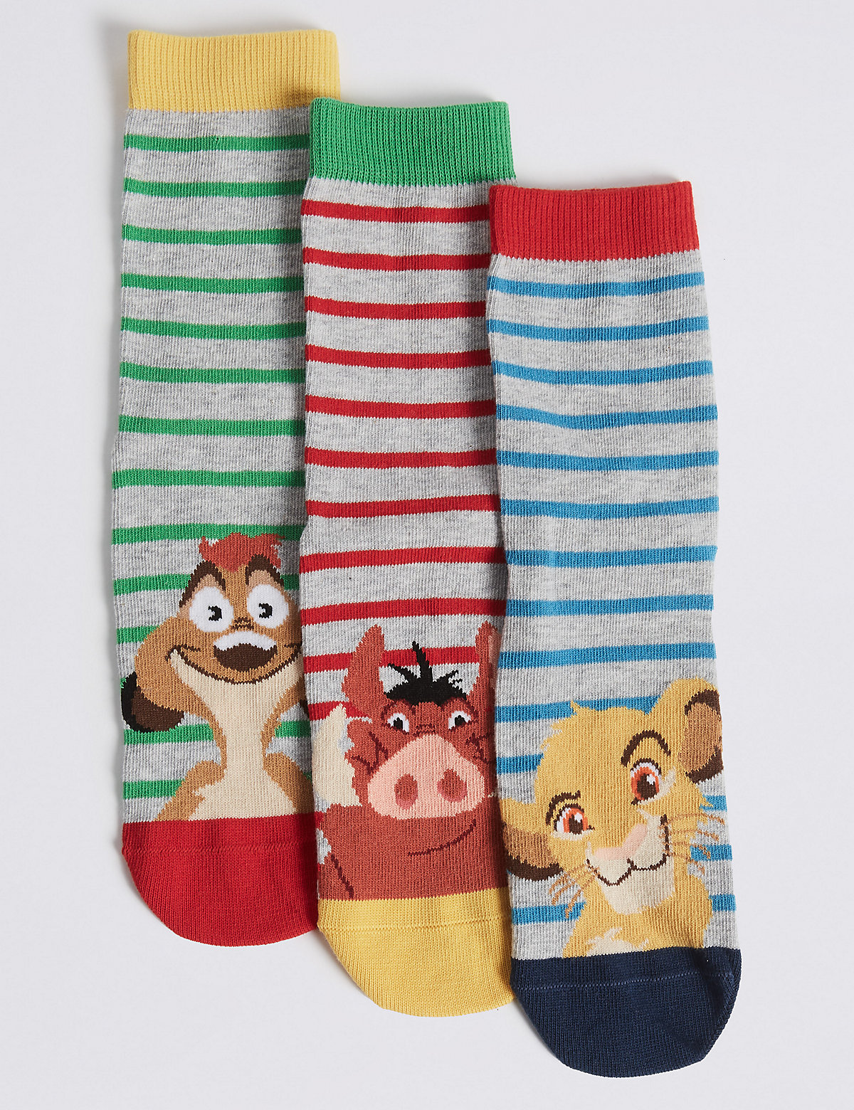 3 Pairs of Lion King Casual Socks
