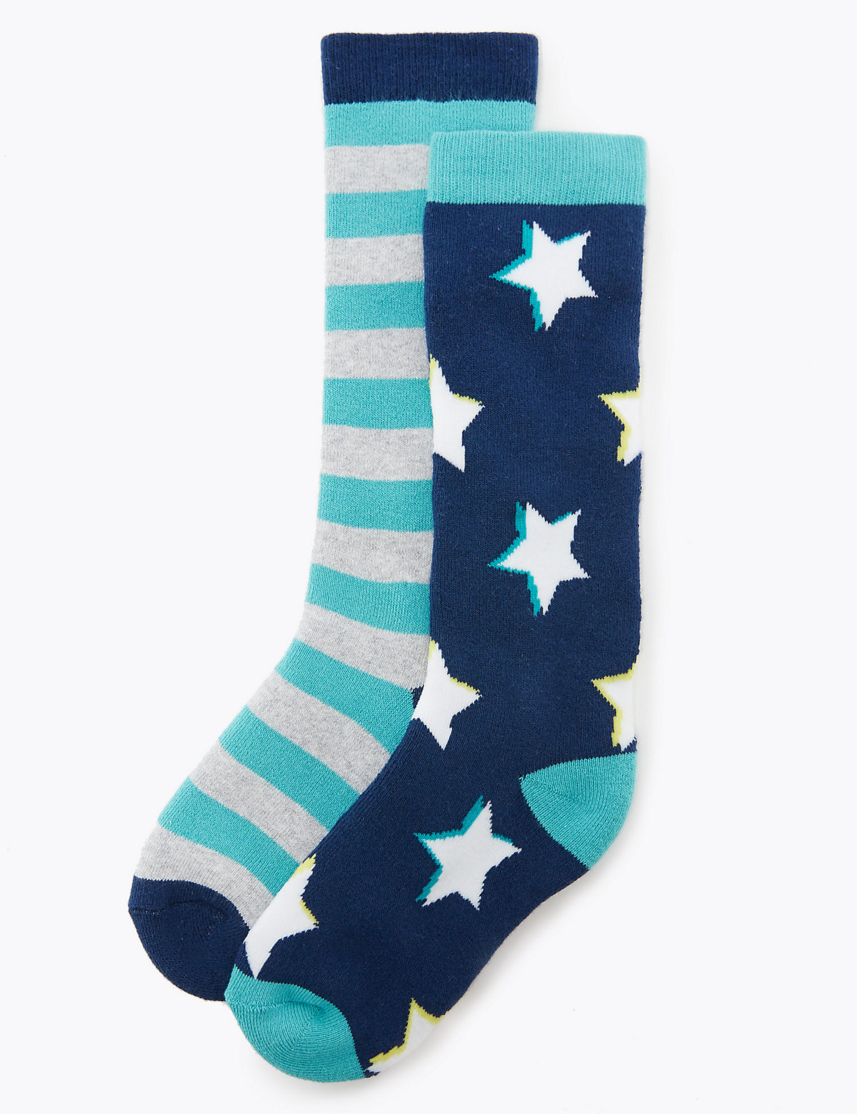 2 Pack of Freshfeet Star Print Welly Socks