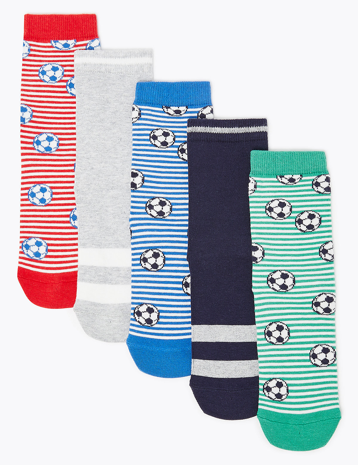 5 Pack of Cotton Rich Football Socks