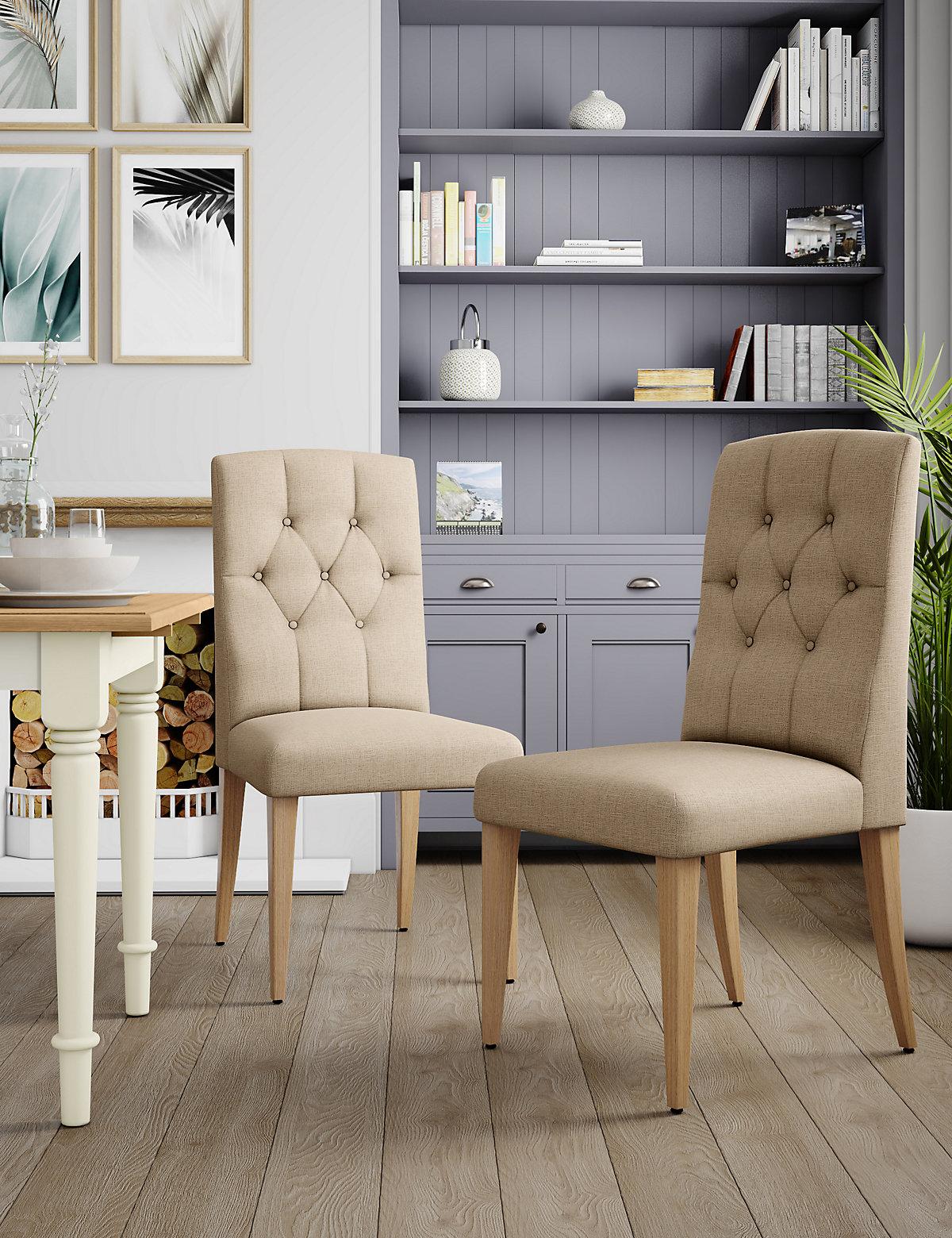 Set of 2 Greenwich Button Dining Chairs