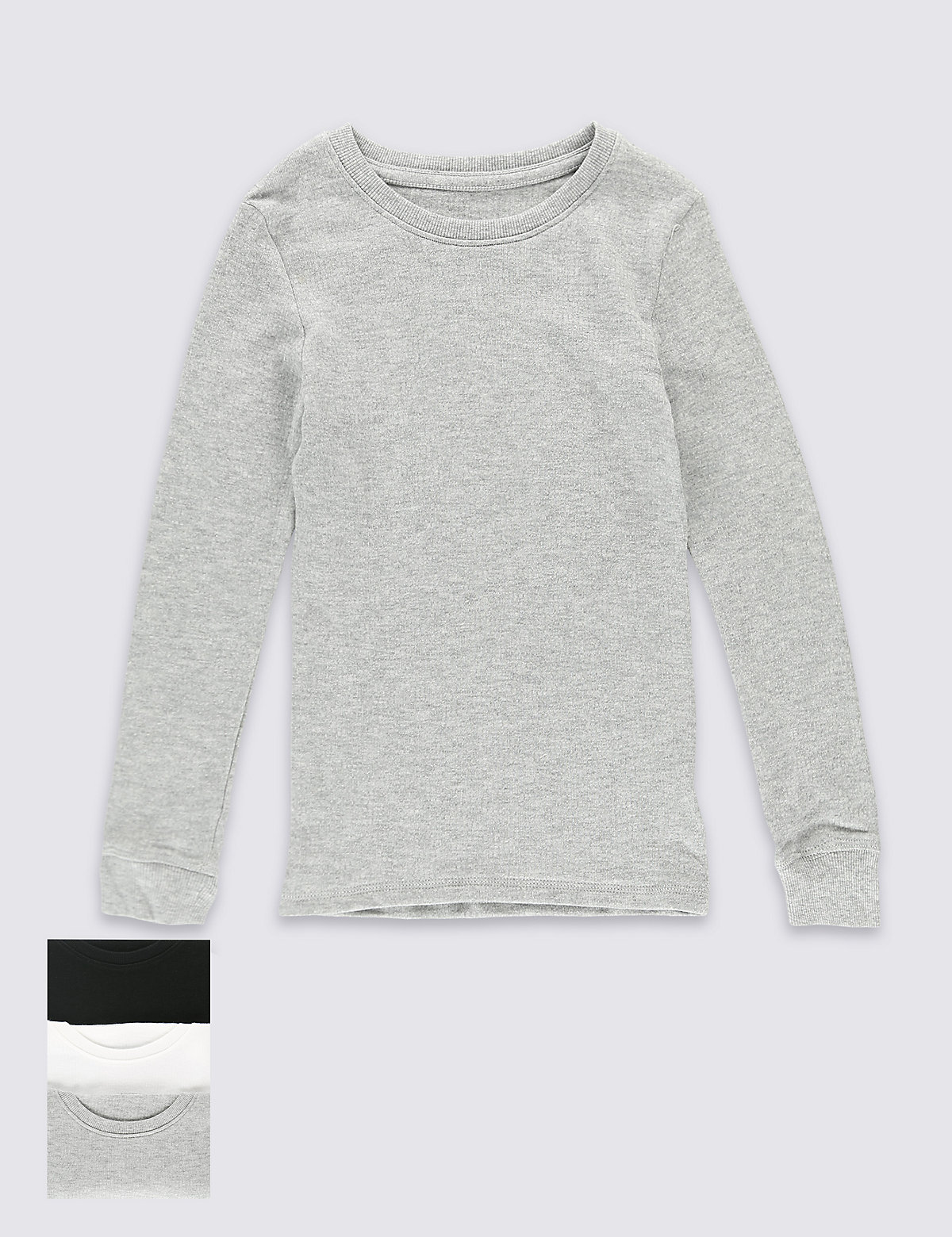 3 Pack Long Sleeve Thermal Tops (18 Months  16 Years)