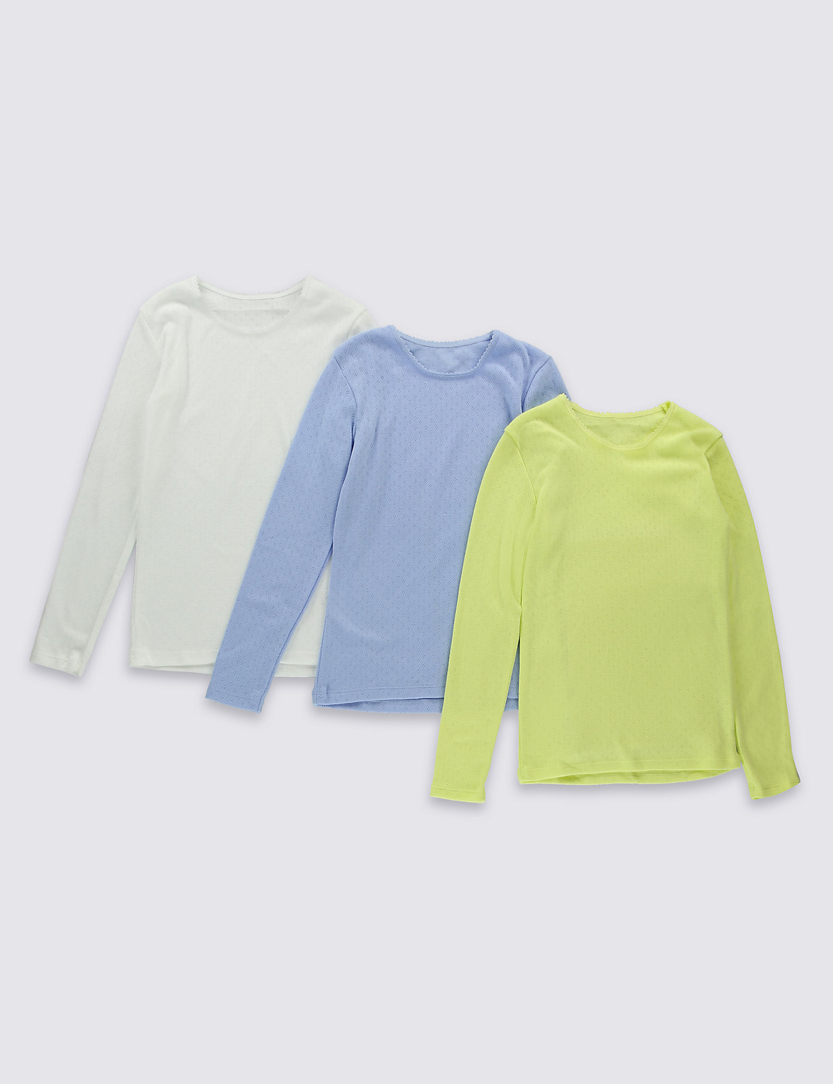 3 Pack Long Sleeve Thermal Vests (18 Months  16 Years)