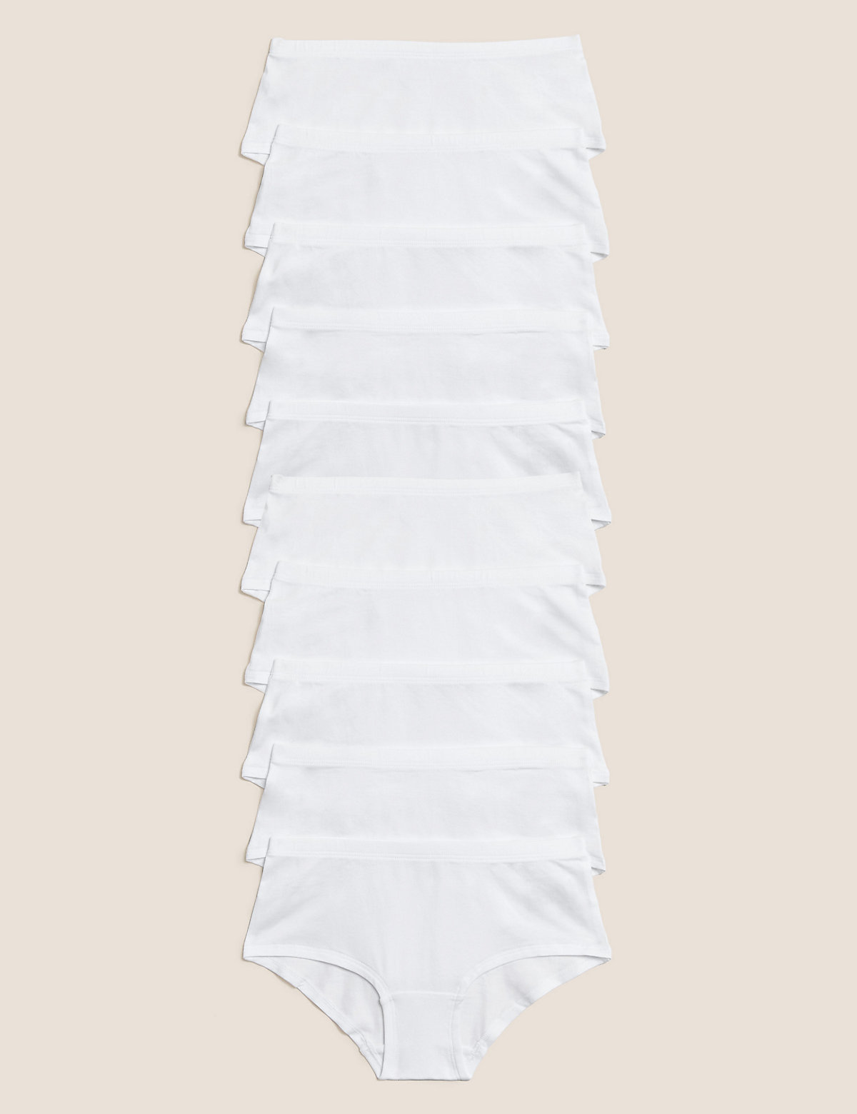 10 Pack Cotton With Stretch Shorts (2-16 Yrs)