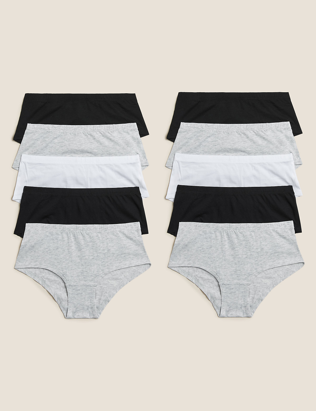 10 Pack Cotton Shorts (2-16 Yrs)