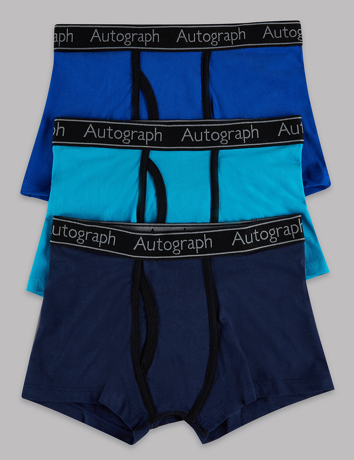 Autograph 3 Pack Cotton with Lycra Trunks (4-16 Years)
