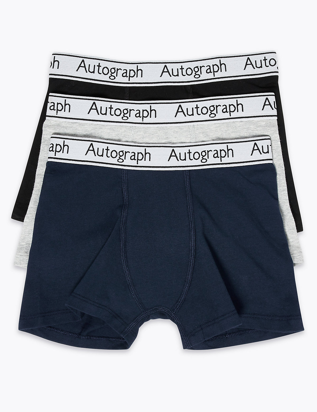 Autograph 3 Pack Cotton with Lycra Trunks
