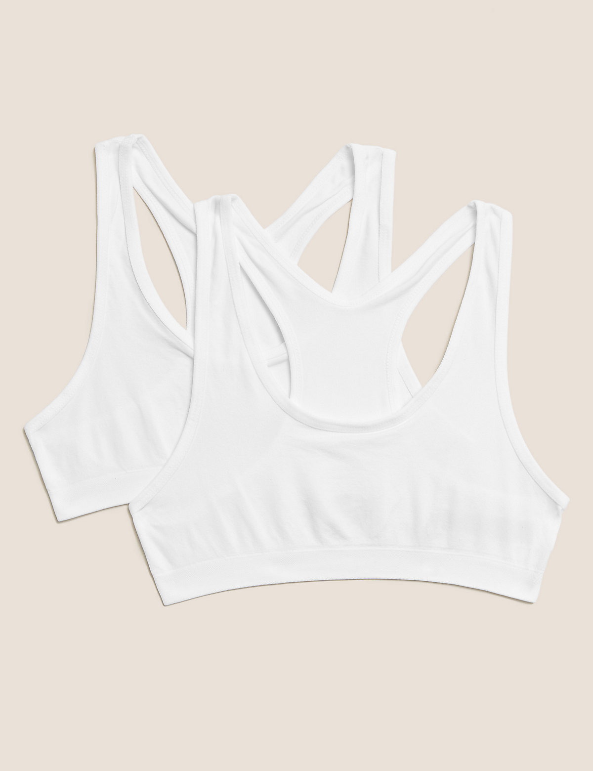 2 Pack Seamfree Cropped Tops (9-16 Yrs)