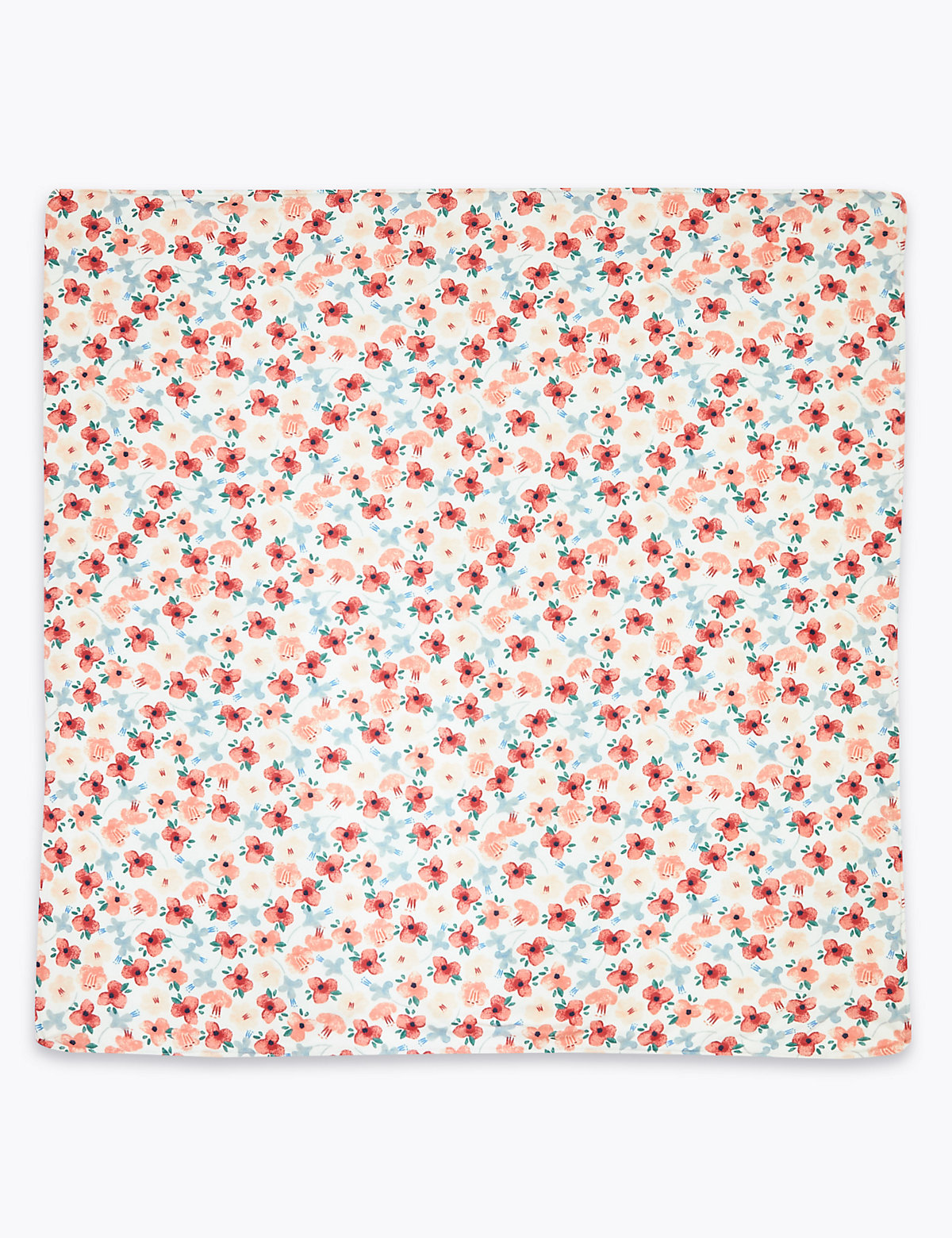 Pure Cotton Jersey Floral Shawl