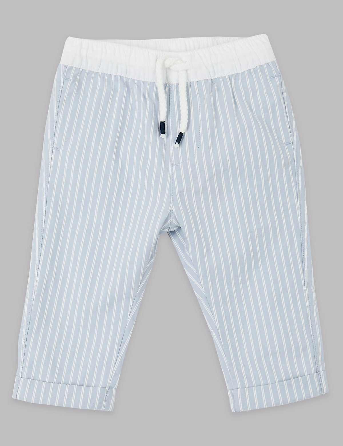 Autograph Cotton Striped Chinos with Stretch
