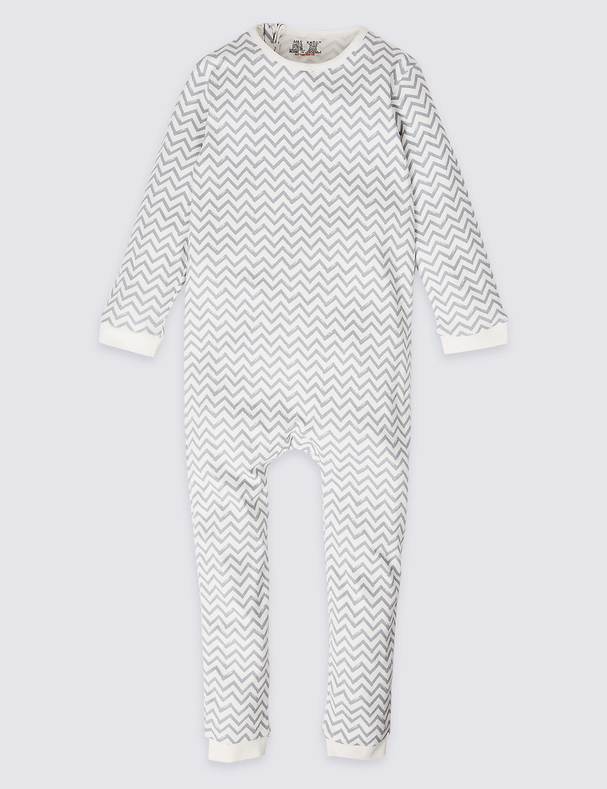 2f1362d5006b Easy Dressing Pure Cotton Back Zip Opening Sleepsuit (3-16 Years) - Marks    Spencer at Westquay - Shop Online