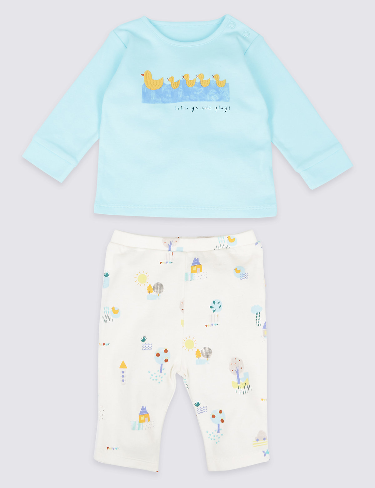 2 Piece Duck Top & Joggers Outfit