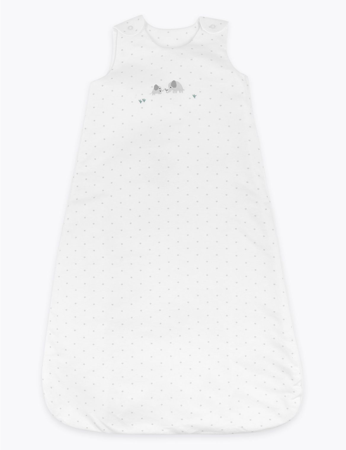 1 Tog Organic Cotton Star Sleeping Bag (0-36 Mths) white
