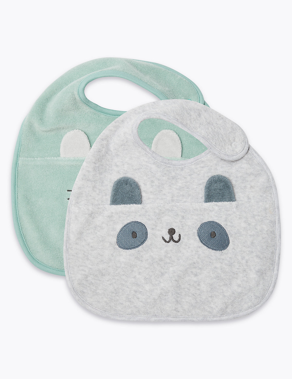 2 Pack Animal Face Bibs