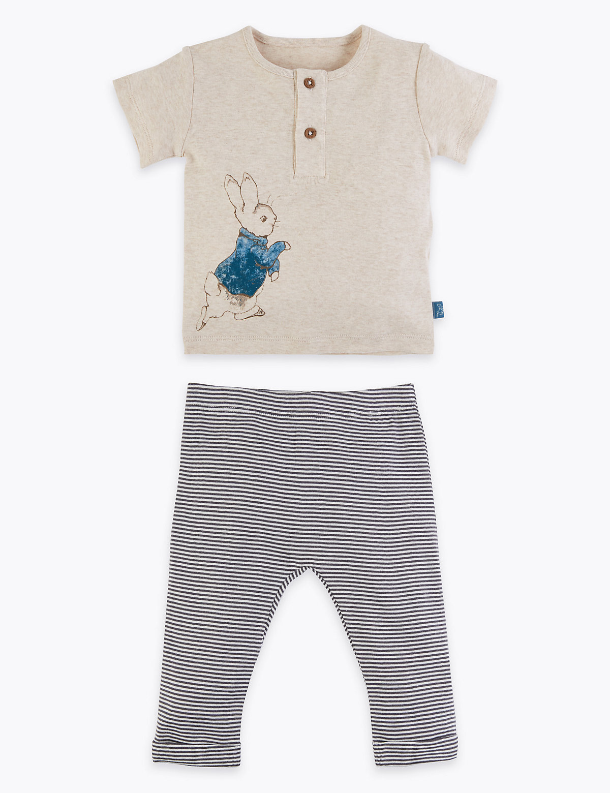 2 Piece Pure Cotton Peter Rabbit Outfit (7lbs-36 Mths)